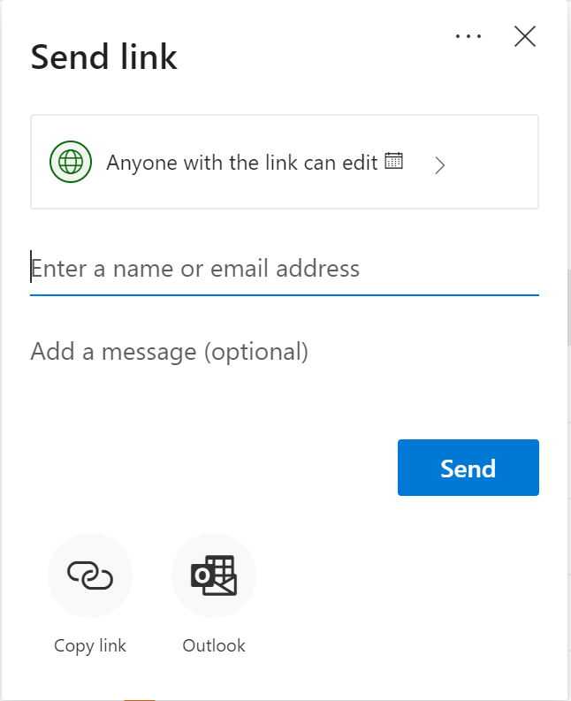 Secure Sharing Options